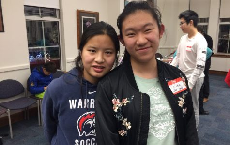 Lia Bergman-Turnbull, junior (left) and Selina Chen (right)