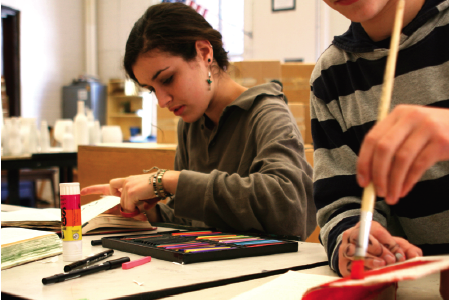 Art Studio offers students opportunities to experiment with different types and mediums of art through a variety of projects. (Photo by Kerry Grove)