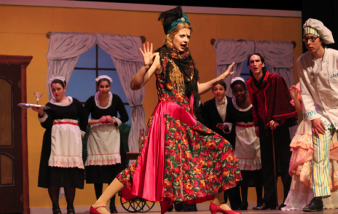 Sophomore Marisa Lazaar plays Kitty in The Drowsy Chaparone. (Photo by Sabine Shaughnessy)