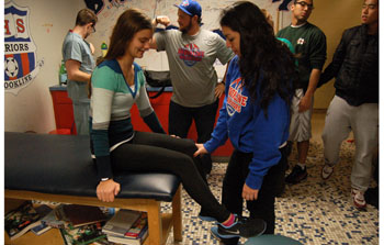 Student-athletes decide between trainer and doctor