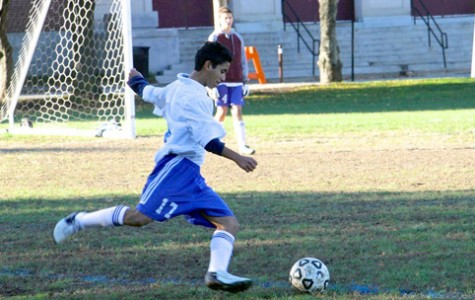 Junior Jose Palma Santos is one of the several English language learner students involved with a sports team at the high school. Many ELL students have found that being on a sports team is an effective way to meet new people.