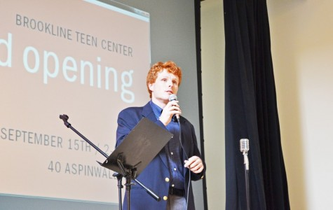 Rep. Joe Kennedy spoke at the grand opening of the Brookline Teen Center on Sept. 15. The grand opening honored several figures integral to the center's creation. Photos by Giovana Castro.