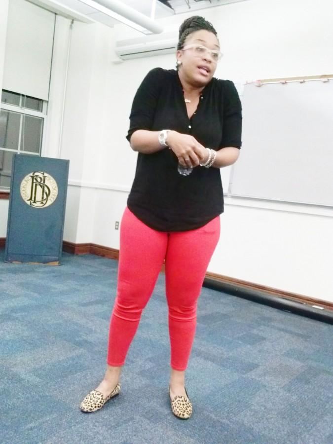 Kandice+Summers+talks+about+her+experiences+as+a+past+METCO+student.+Photo+by+Destiny+David.