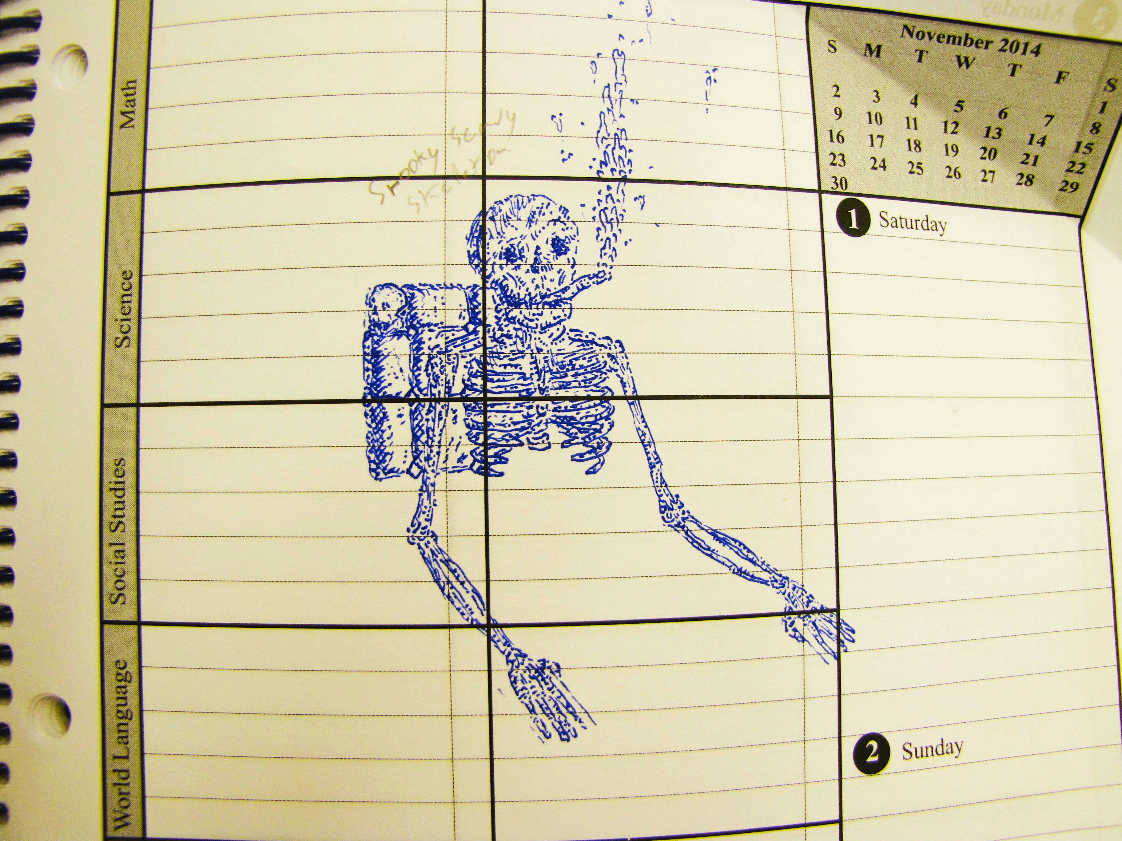 Students can share anything from long-term projects to interesting doodles.
