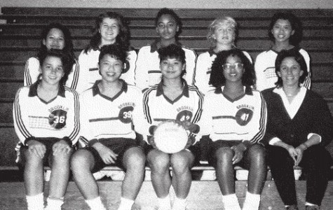 Associate Dean Melanee Alexander (front row, second from right) was a captain of the 1989 Brookline High School girls varsity volleyball team, picture above. PHOTO FROM 1989 YEARBOOK.