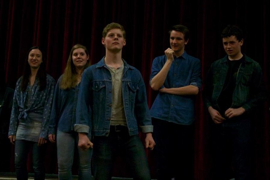 The cast of Needs Improvment acts in their Final Showcase. Photo by Claudia Hermano.