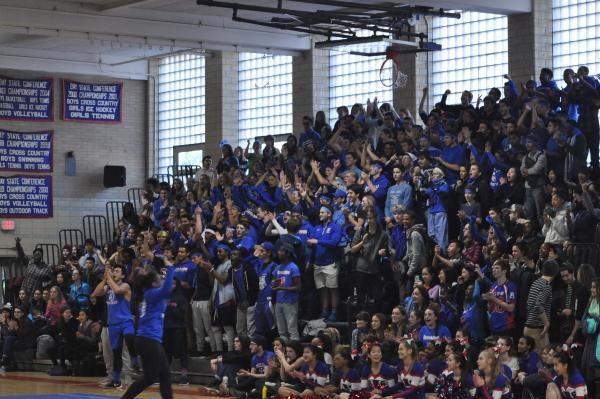 The seniors cheer at the pep rally. Sam Klein / Sagamore staff