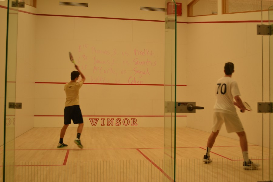 Junior+Colin+McCarthy+sets+up+to+strike+the+ball+in+a+match.+Photo+by+Ben+Mandl+%2F+Sagamore+Staff