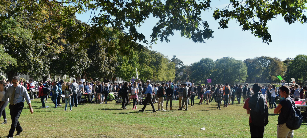The Club Fair, where clubs call out to prospective members by offering candy, baked goods and information about the club's function, took place on Oct. 8.  The high school has over 100 registered clubs and activities.