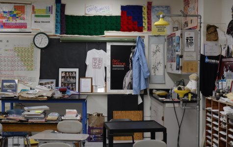 SWS chemistry teacher Steve Lantos' room barely has a white space on the wall. Lantos believes decorated classrooms inspire students.