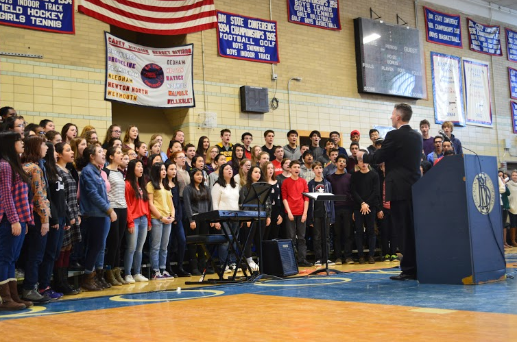 Students sing