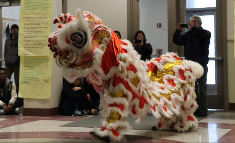 Calvin Chin Martial Arts Academy perform the lion dance.  Tuo Ji / Sagamore Staff