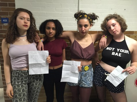 Students protest lack of clear dress code through demonstrations in freshman advisories