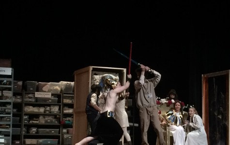 The light saber fight in the play