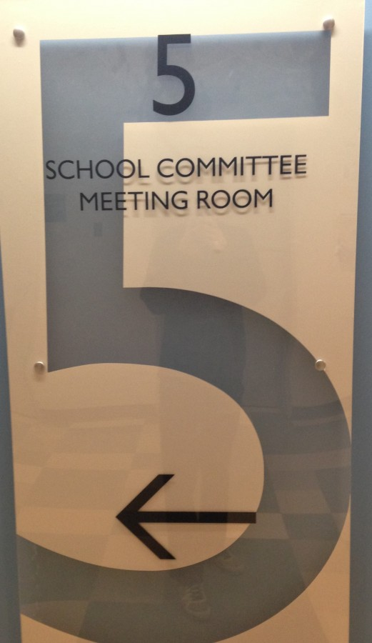 The School Committee room in Town Hall.