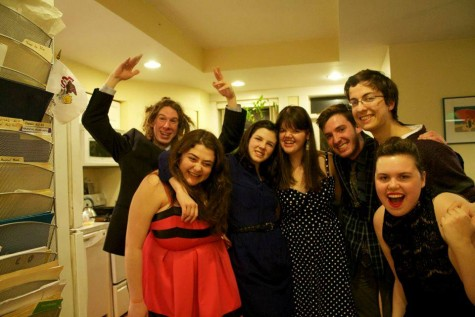 Suzanna Jack '15 poses with friends at the end of her senior year. Photo provided by Suzanna Jack.