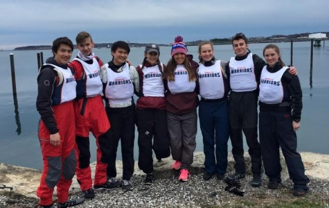 The sailing team's captains, without a coach for the start of the season, helped teach their athletes with sailing-based material. Provided by Will Neubauer