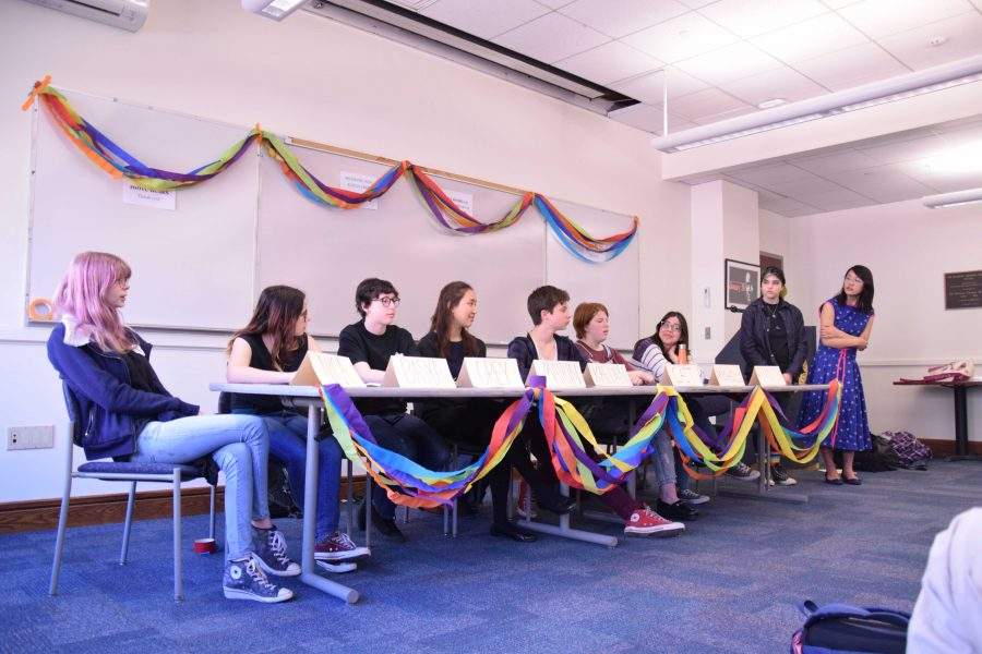 The X-block Q&Gay panel was made up of high school students on the GSA who answered questions such as how to deal with homophobia, pronouns and how they came out to their families.