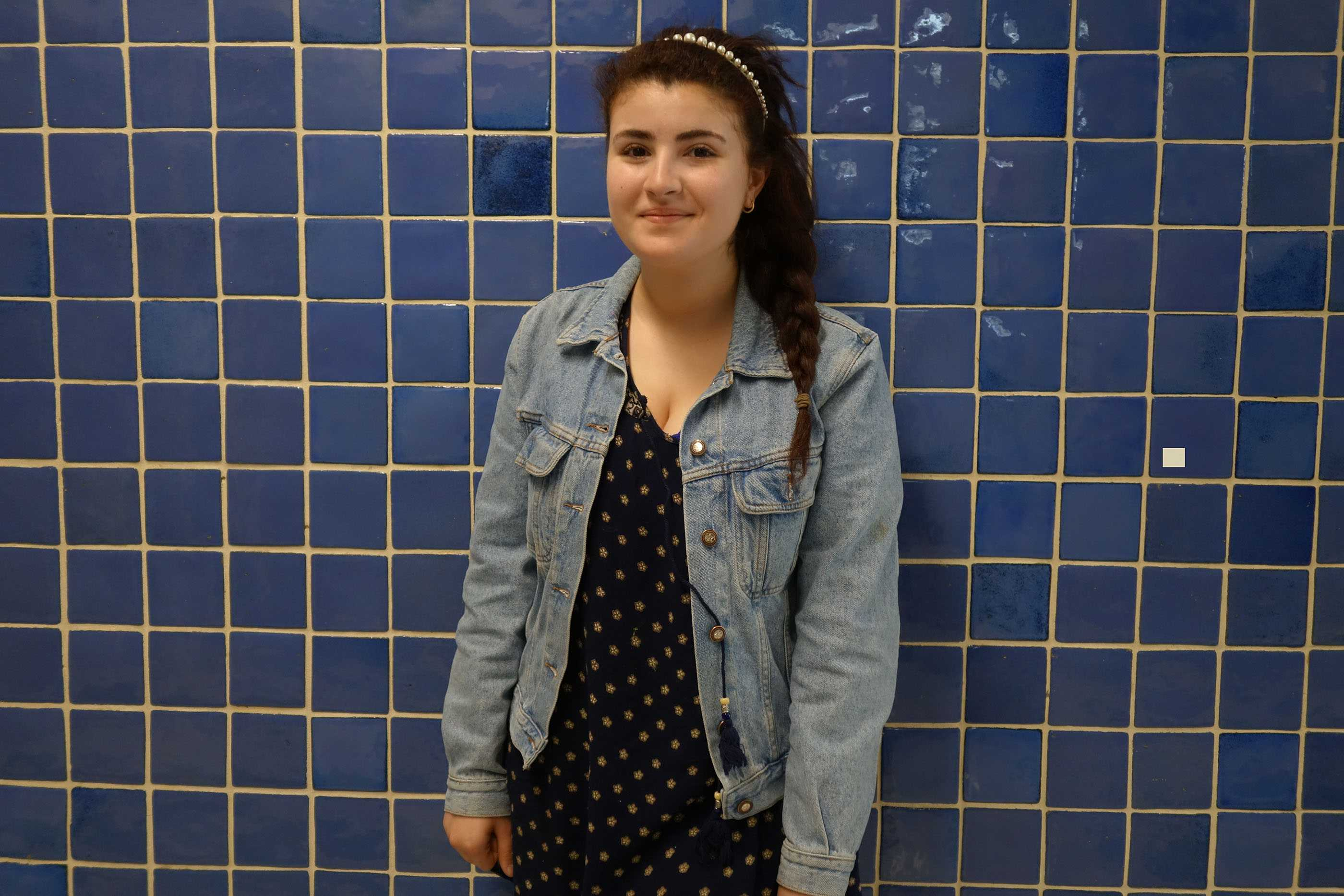 Junior Amber Blu makes sure to dress modestly at school. SUSANNA KEMP / SAGAMORE STAFF