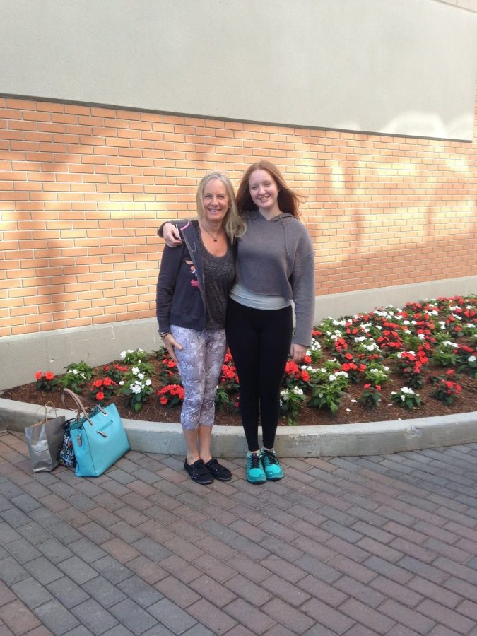 Haley Bayne (right) pictured with her mother, Jodi Bayne (left) in Chestnut Hill. Because of her living situation, Haley now appreciates the little things in life.