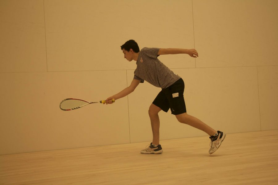 Sophomore David Rubin competes in squash at a national level. Various athletes at the high school have been nationally recognized for their excellence in their respective sports. Some have already fielded offers from several colleges.
