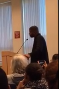 Gerald Alston spoke for 17 minutes Wed. Oct. 5, at a public hearing that he requested