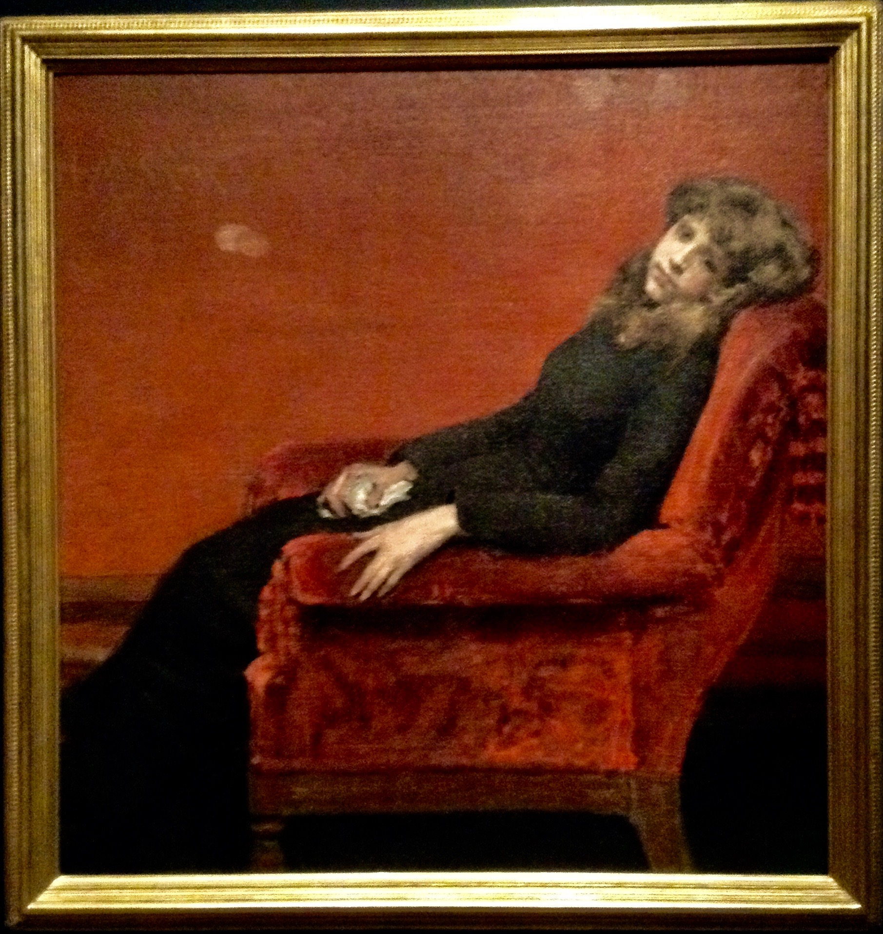 Portrait (The Young Orphan, An Idle Moment), 1884, by William Merit Chase. CHLOE BARBER/SAGAMORE STAFF