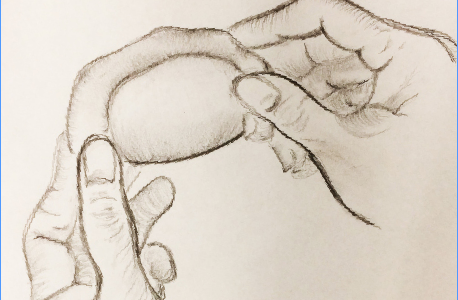 The hands shown above make a dumpling. This student struggled with the assumptions that accompanied her bringing lunches to school which included dumplings and other foods from her Chinese culture.