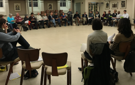 Town residents gathered in Temple Sinai Nov. 30 to discuss measures to reach racial equality through policy and local government.