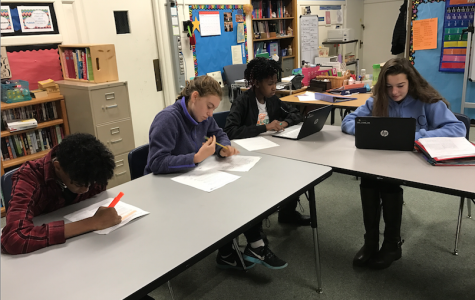 Students in the LAHB program at Driscoll School work on their reading skills during an English class. The program serves to improve upon students' reading abilities. CONTRIBUTED BY SARA WISHNER