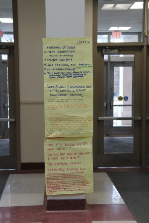 Notes from the previous Lunch and Learn Series aided the English Department by providing student insight.
