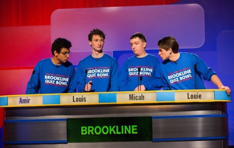 Seniors Amir Siraj, Louis Sokolow, Micah Greenberg and Louie Goldsmith compete on WGBH's