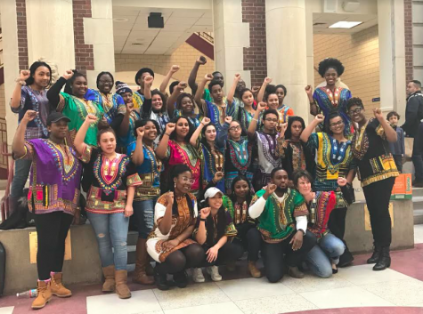 Peeps on the street: Students and teachers wear dashikis to celebrate the beginning of Black History Month