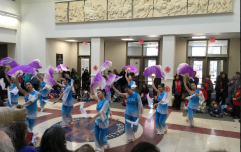 The YMCA dance troupe performs a routine at the Pan-Asian Lunar New Year festival on Feb. 4.