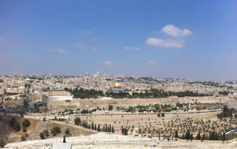 The skyline of Jerusalem includes famous landmarks like the Western Wall and the Temple Mount, which is best known around the world for its shinning golden dome.