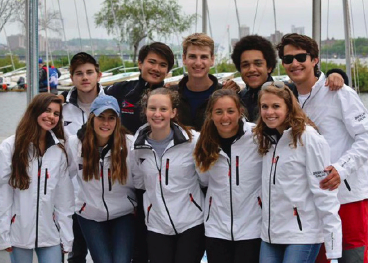 The sailing team poses at one of their races last year. Without a coach, the squad encountered numerous scheduling challenges. Ella Kitterman/Sagamore Staff