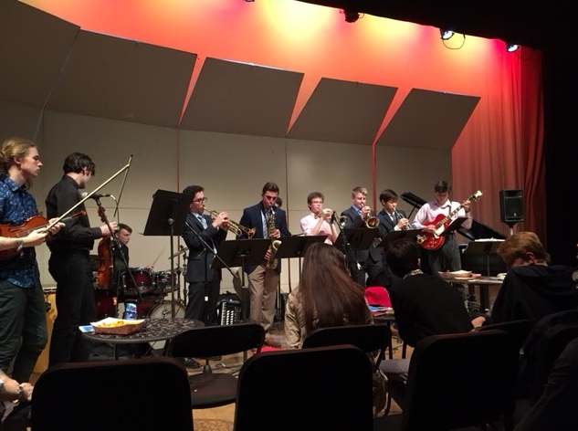 The Music Collective performs together at their Spring Concert. The cohesive nature of the band allows onstage group work and results in fantastic jazz. SOPHIA REYNOSO/SAGAMORE STAFF
