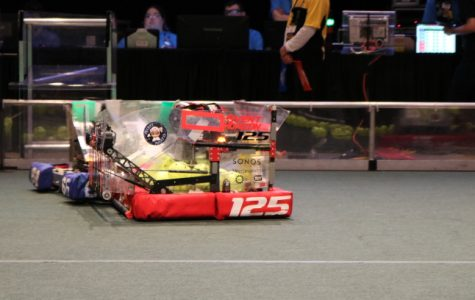 The Brookline High robotics team spent six weeks building a robot, which would face off at the world championships. Contributed by the Nutrons Robotics Team.