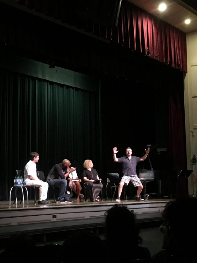 A panel of performing arts teachers sat with Nik Walker, as he explained his life as an actor. Sabrina Zhou/Sagamore Staff