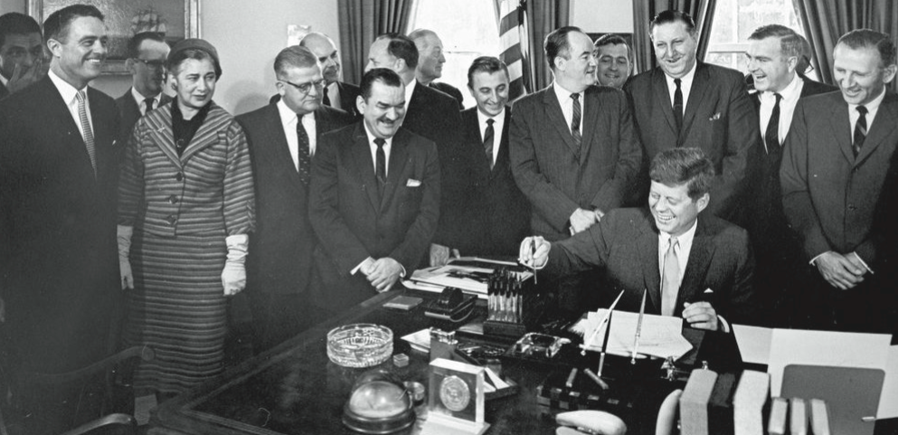 Kennedy signed HR 7500, which established the Peace Corps, on Sept. 22, 1961. PHOTO FROM PUBLIC DOMAIN