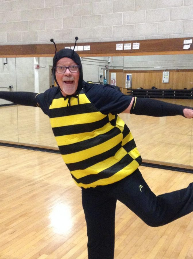 Dance Teacher Christen Polos dressed as a bee