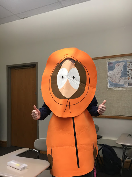 Junior Eric Chabon, dressed as Kenny from South Park