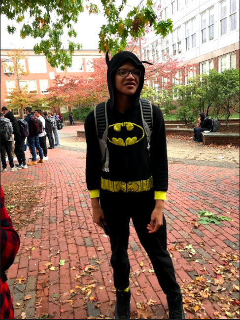 Sophomore Aaron Richardson dressed as Batman