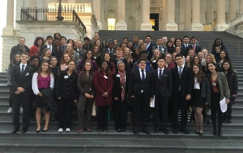 The committed members of Amnesty International pose together on their school trip to Washington D.C.