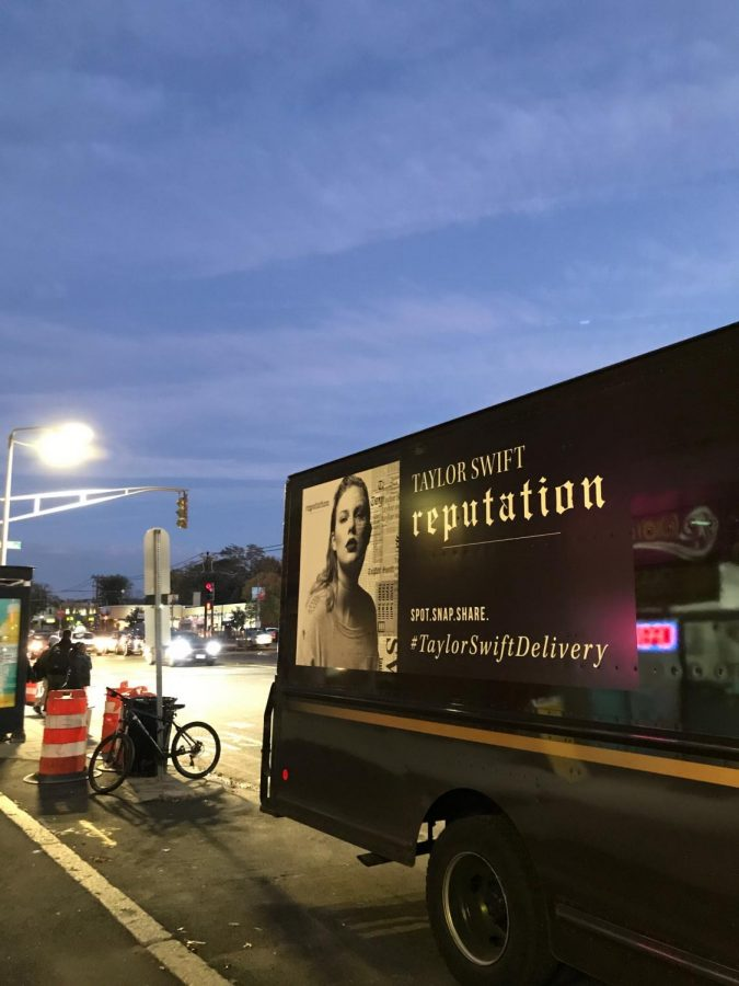 Swift's advertising campaign has been notoriously wide in its reach, going so far as to be posted on United Postal Service trucks in the style of a newspaper or tabloid
