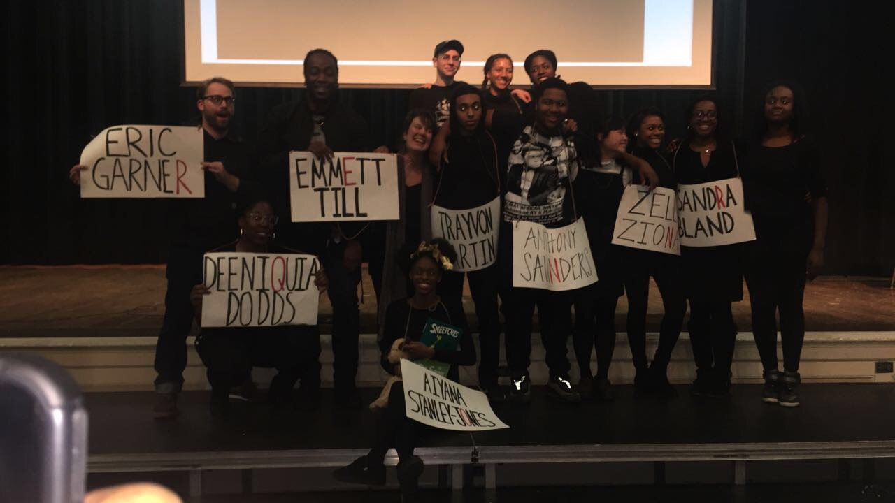 Asking For Courage Day 2016: Black Lives Matter assembly.