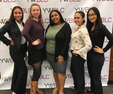 Students who attended the Young Women's Conference at Harvard Business School on Nov. 4 posed for a photo.