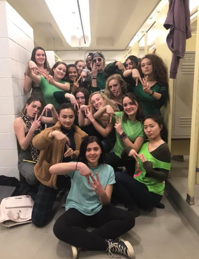 One of the two all-female a cappella groups, Note-A-Fy is made up of talented singers from the high school. Check out this video to see what a typical rehearsal is like and hear about their experiences.