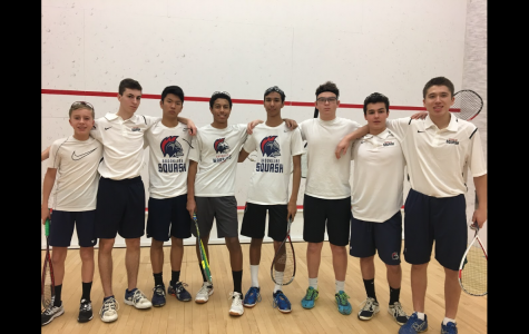 The boys junior varsity squash team poses for a photo after a 5-2 win over the Park School of Baltimore at the 2018 U.S. High School Team Squash Championship. PHOTO CONTRIBUTED BY STEVE LANTOS