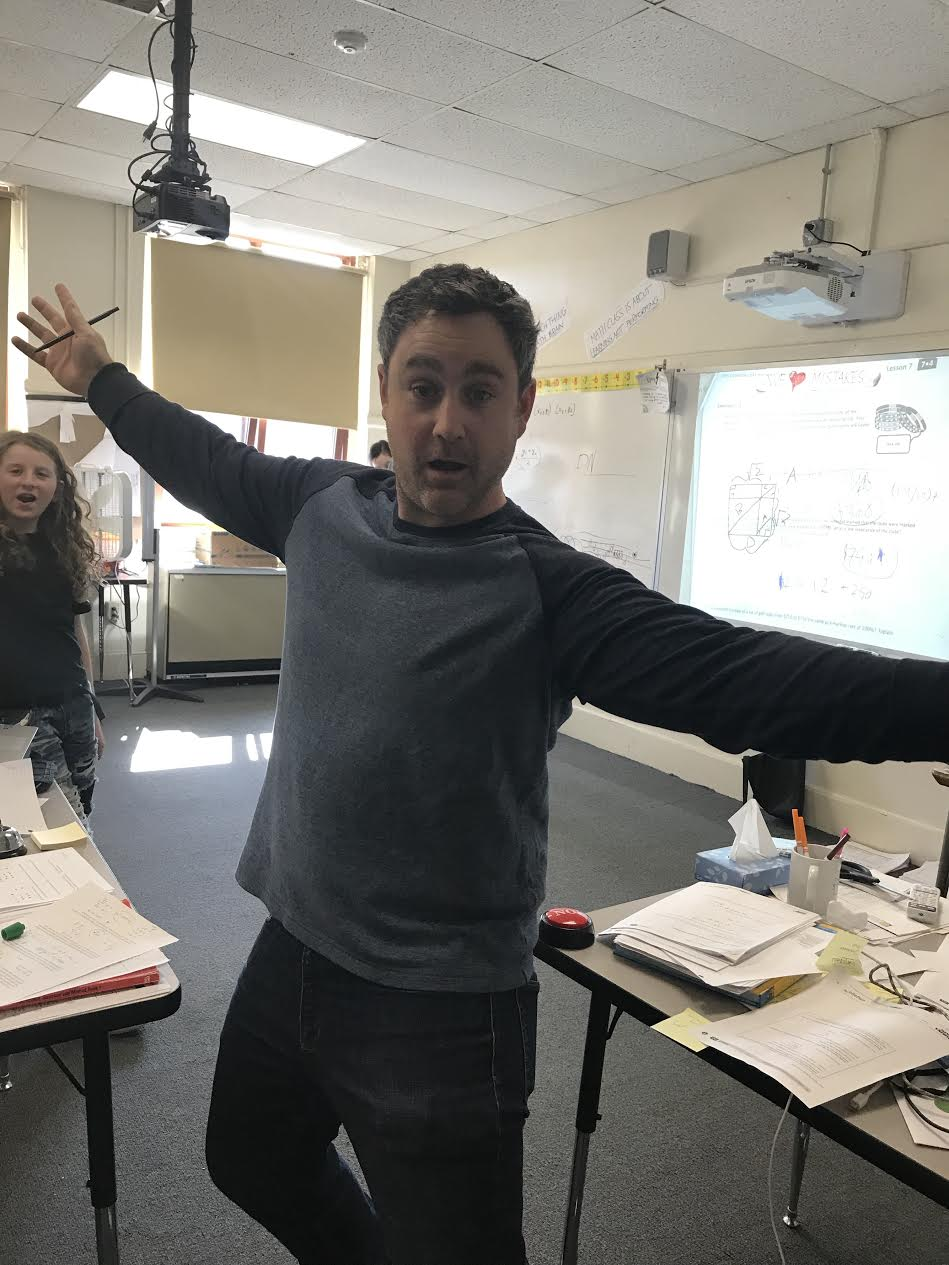Paul Coco teaches 7th and 8th grade math at the Michael Driscoll Elementary School.